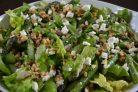 Салат со спаржей, орехами и фетой