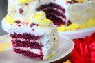 Праздничный торт Красный бархат