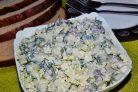 Грибной салат с пекинской капустой