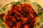 Макароны с сардельками в томатном соусе