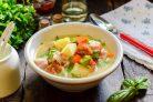 Суп с копченостями и вермишелью