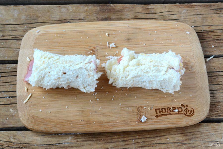 Сытные рулетики из хлеба