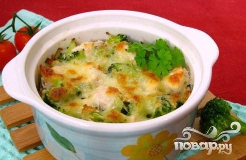 Рецепт Запеченное куриное филе  брокколи