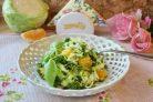 Салат с капустой и апельсином