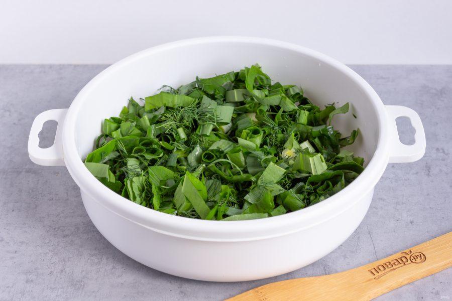 Зеленый салат без майонеза