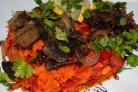Вегетарианский салат с грибами