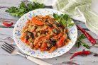 Овощное рагу с грибами и капустой