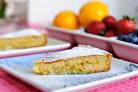 Лимонный пирог с начинкой