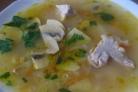 Суп со свининой и шампиньонами
