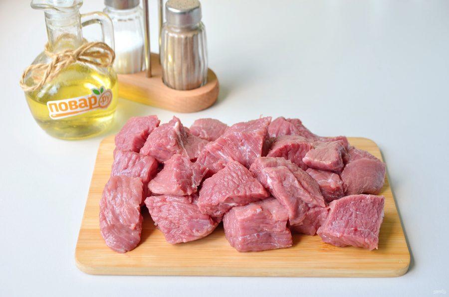 Тушеная говядина с лапшой
