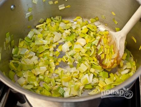 Суп с луком-порей