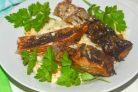 Рыба в микроволновке-гриль