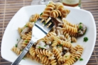 Жареные грибы с макаронами