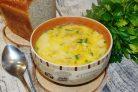 Суп с плавленным сыром и вермишелью