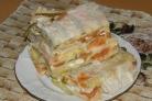 Слоеный пирог из лаваша