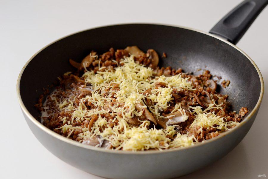 Приготовление гречки с грибами