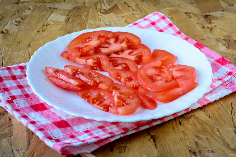 Узбекский салат из помидоров и лука