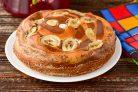 Пирог Зебра с бананом
