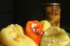 Перец жареный с чесноком
