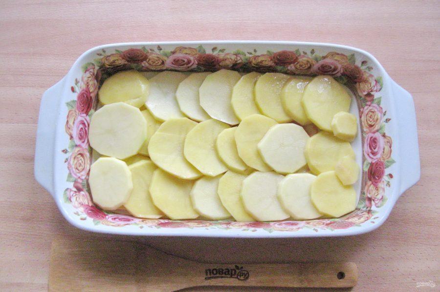 Пеленгас с картофелем в духовке