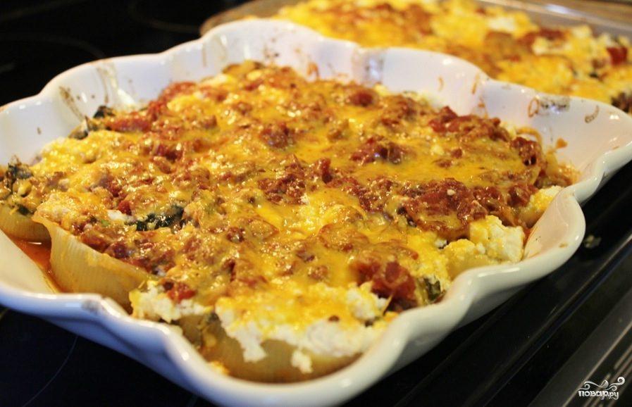 Рецепт Фаршированные макароны ракушки