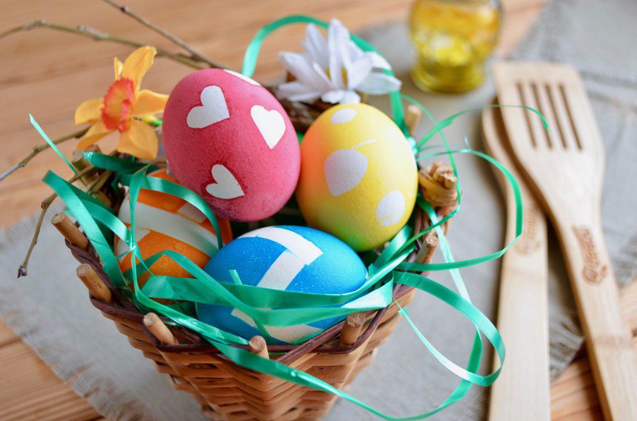 Пасхальные яйца с узорами