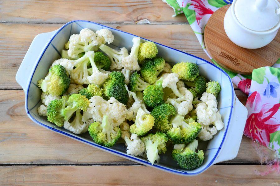 Диета с брокколи и цветной капустой рецепт