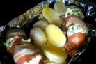 Сардельки фаршированные с картошкой