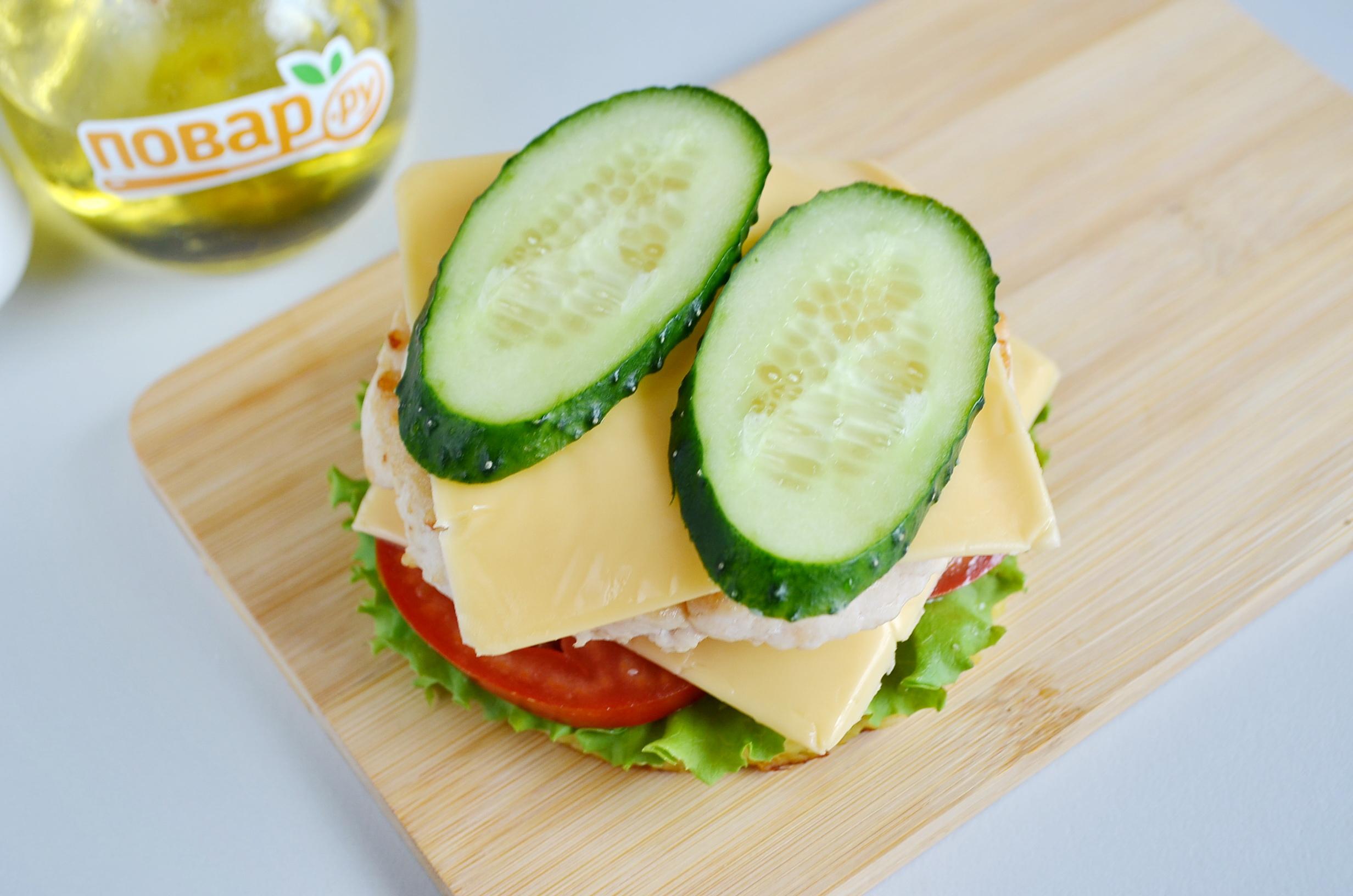 Сборка картофельного сэндвича, шаг 4