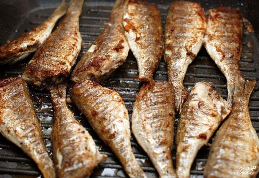 рецепт морской окунь на гриле