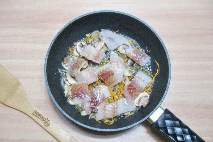 Гречневая лапша с рыбой