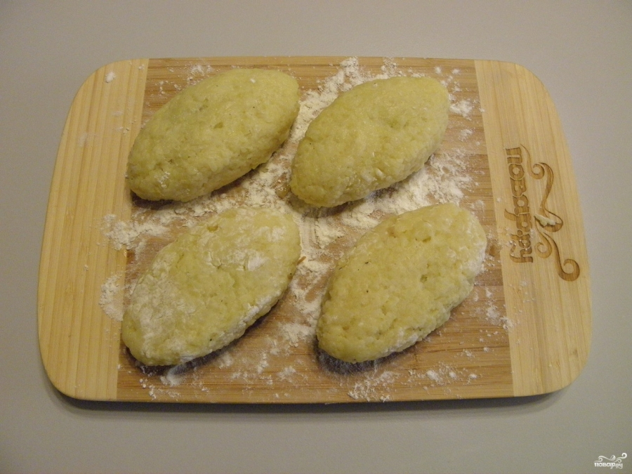 Зразы картофельные с грибами