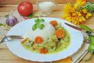 Свинина с яблоками в сливочном соусе