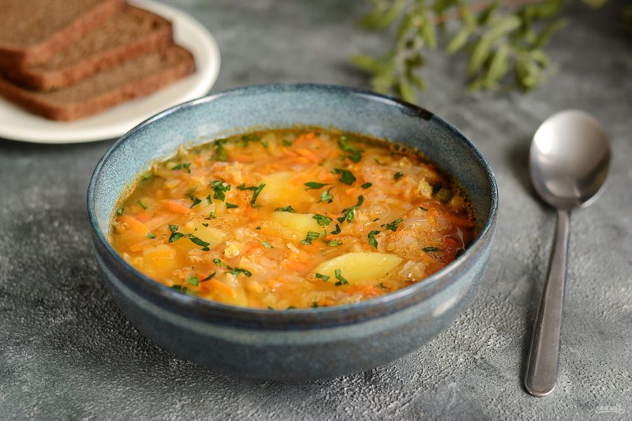 Суп с чечевицей и квашеной капустой