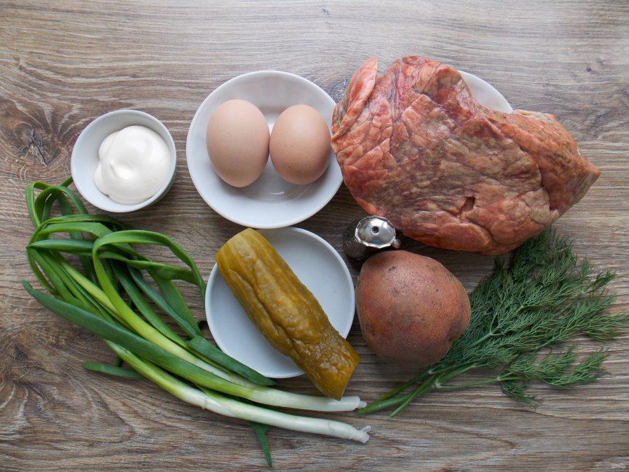 Салат из говяжьего легкого