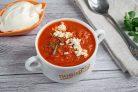 Томатный суп с сыром фета