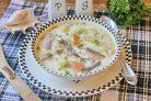 Сливочный суп с красной рыбой