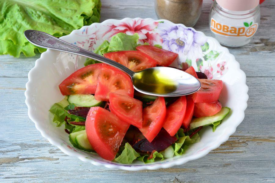 Салат с бастурмой