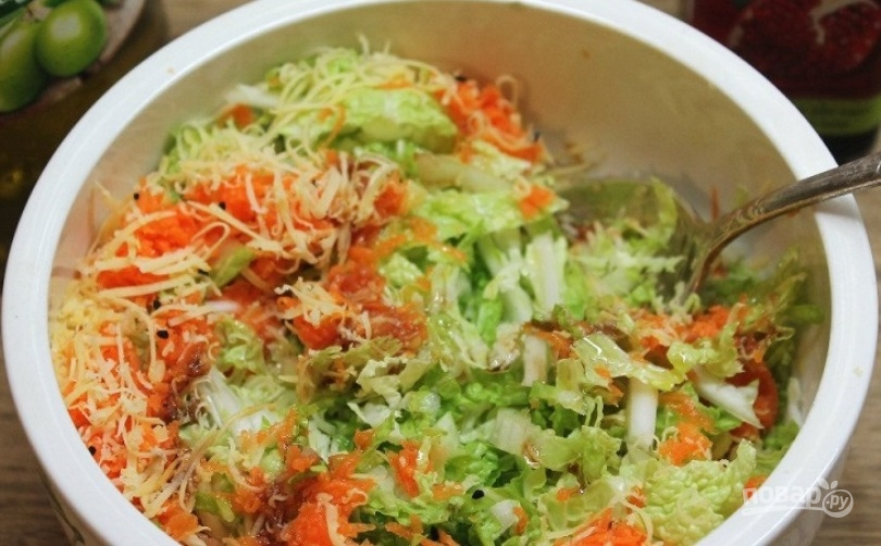 Овощной салат с тмином