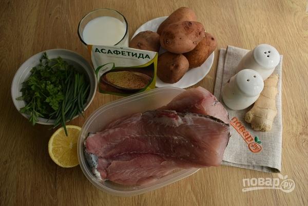 Рыба в сливочном соусе с картофелем