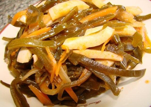 Солянка из морской капусты