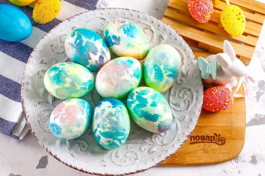 Крашеные яйца космические