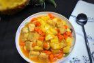 Тофу во фритюре с ананасом