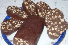 Колбаска из печенья и сгущенки