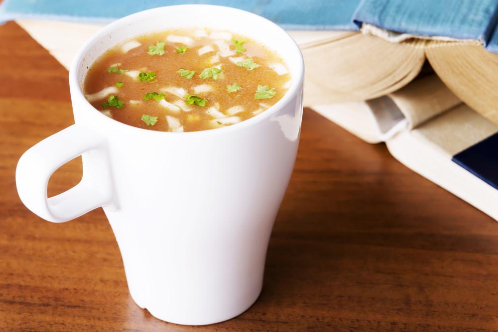 """""""Пустой"""" суп в кружке"""