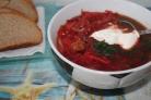Борщ сибирский с мясом