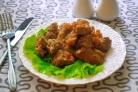 Мясное рагу с баклажанами