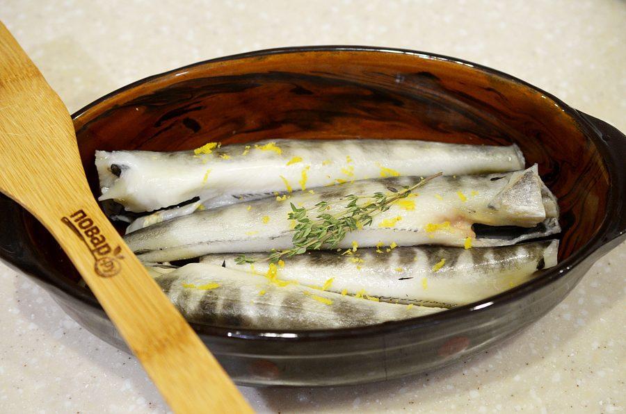 Ледяная рыба, запеченная с тимьяном