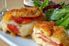 Куриные грудки, фаршированные сыром и пепперони