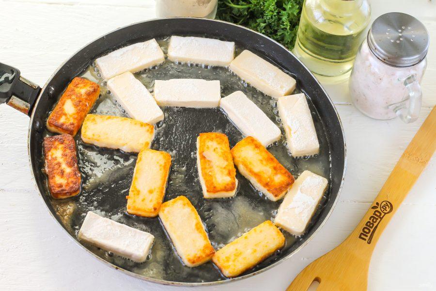 Как жарить сыр на сковороде